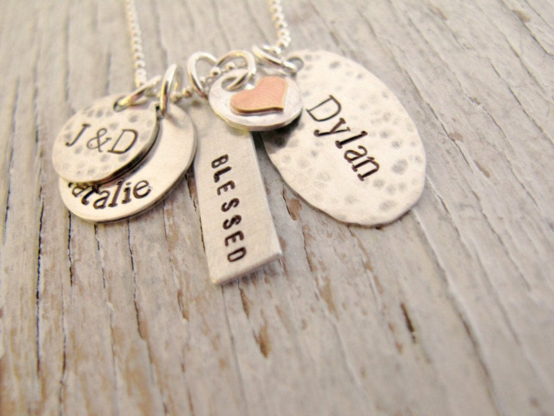 Personalized Family Cluster, 4 charms