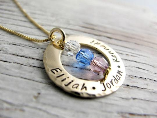 Gold Mother's Ring Necklace