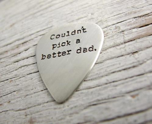 Dad Guitar Pick Key Chain