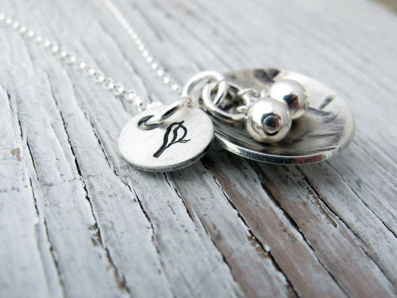 Sterling Silver Bird Nest Necklace