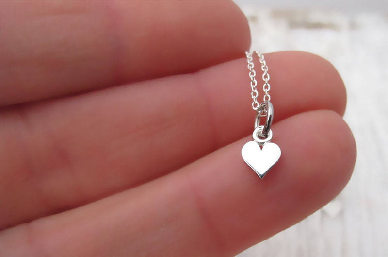 Mother Daughter Necklace, Two Heart Cutout