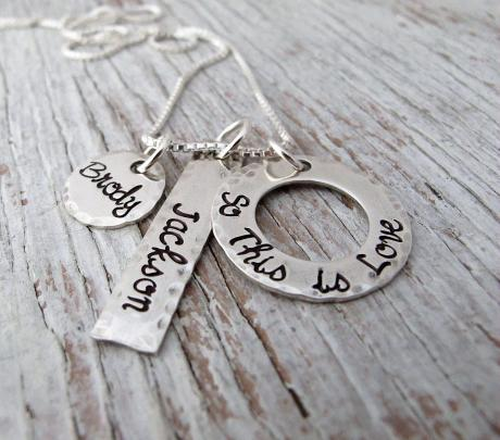 Necklace with Kid's Names