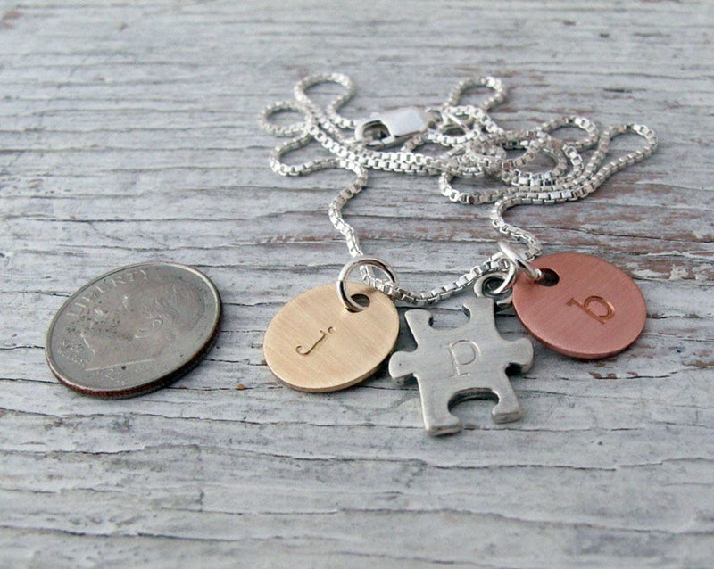 Autism Mom, Awareness Necklace