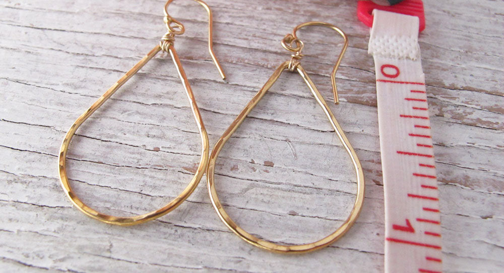 14k Gold Filled Teardrop Earrings