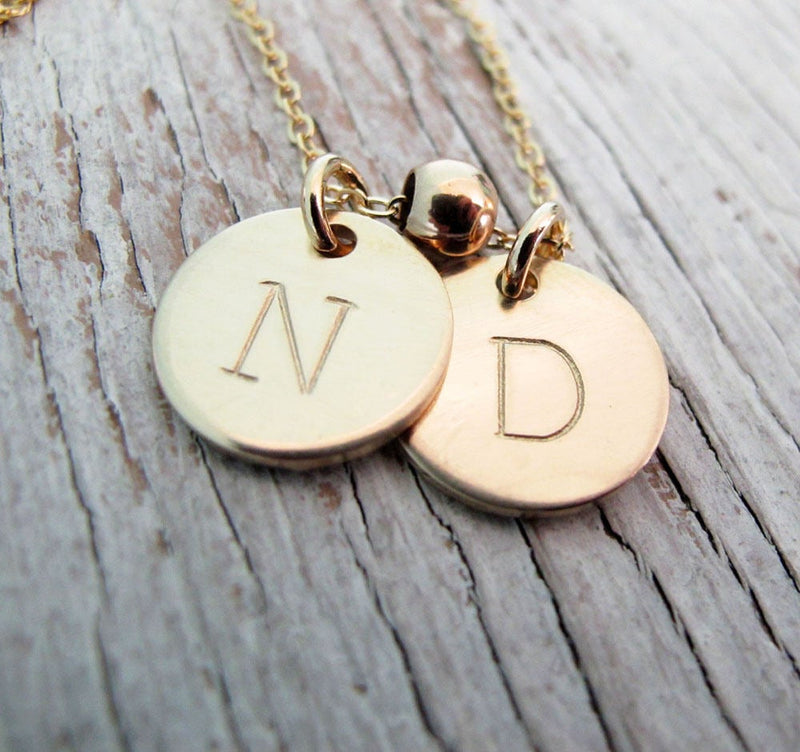 Larger, Double Sided Grandma Gold Necklace