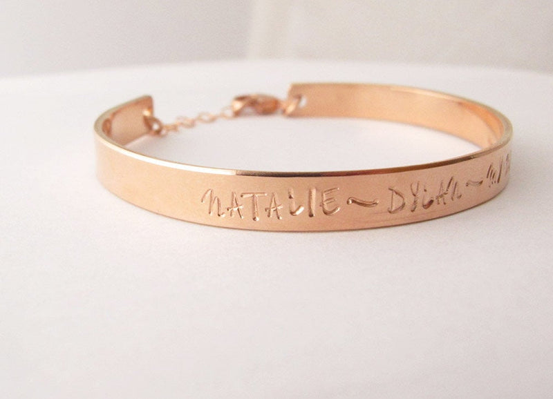 Mother's ROSE GOLD filled Cuff