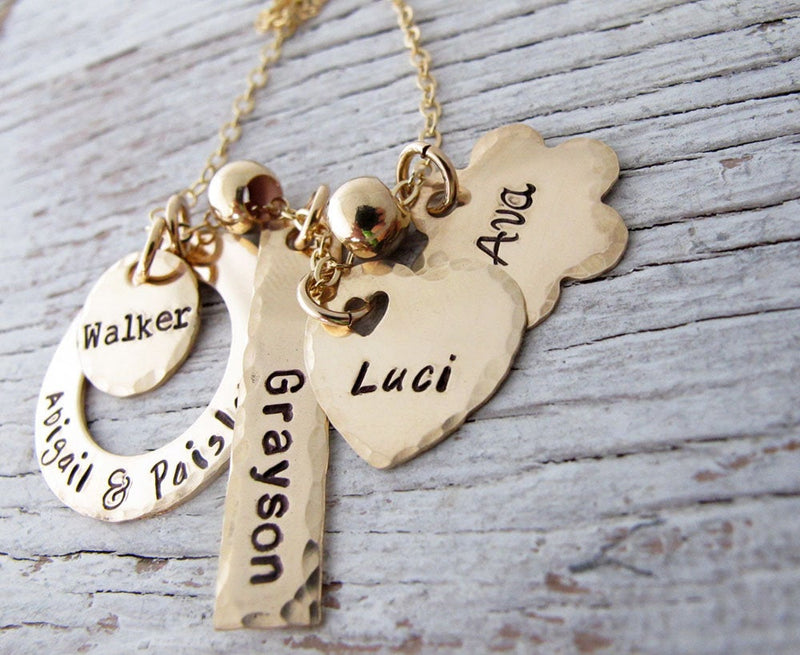 Grandchildren Name Necklace, 5 names