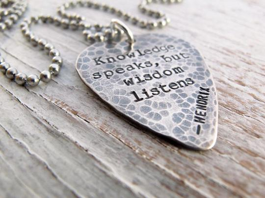 Rustic Guitar Pick Necklace for Men