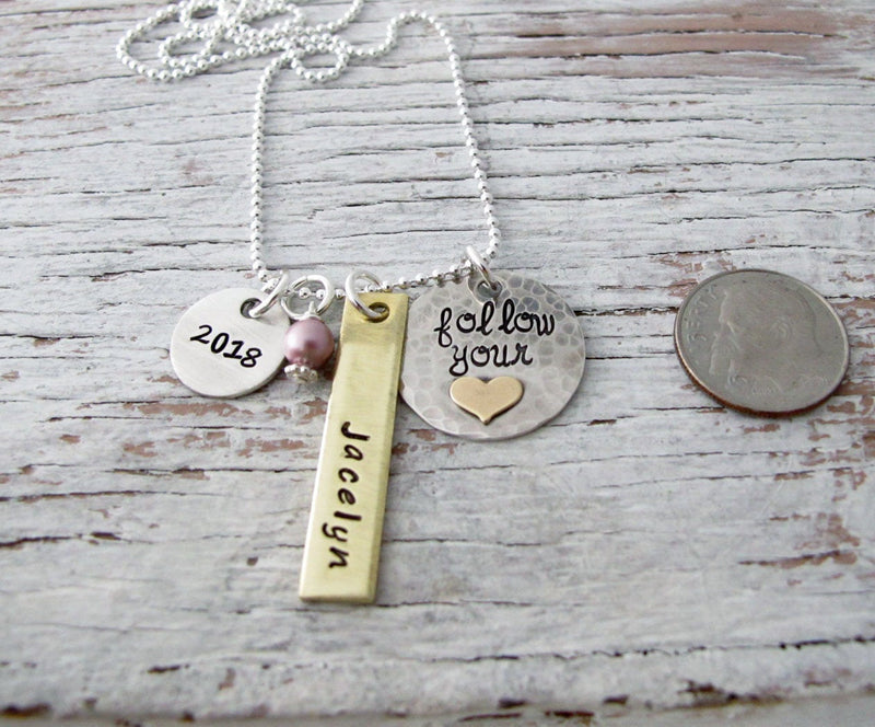 Personalized Graduation Necklace, Class of 2020, 2021, 2022