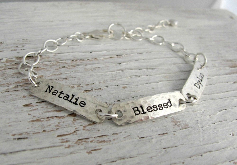 Grandmother Rectangle Tag Bracelet