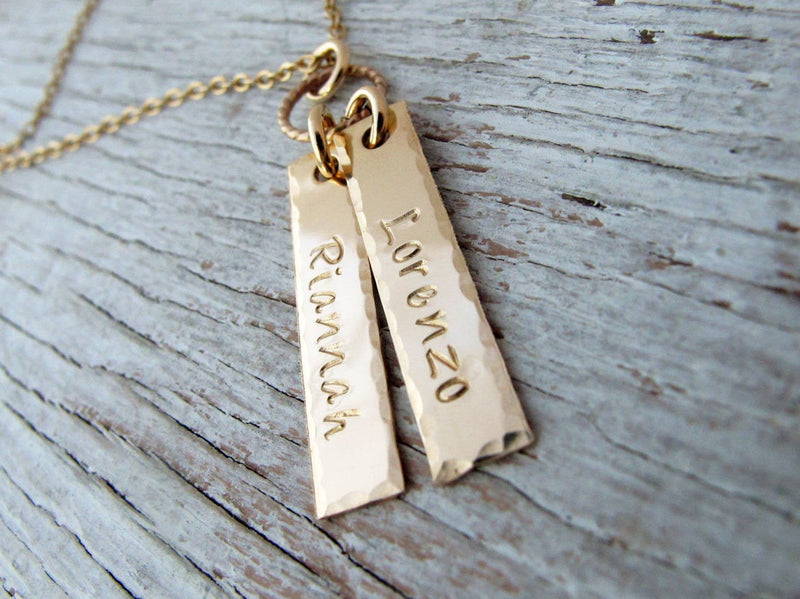 Personalized Gold Filled Mother's Tags