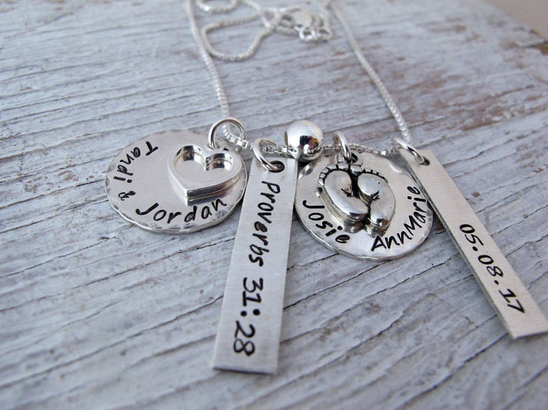 Mother's Necklace, 2 to 4 Kid's Names