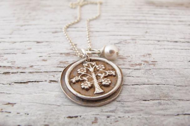 Family Tree Necklace, Copper Patina