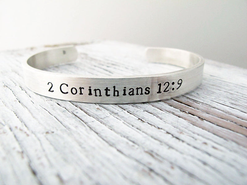 Men's Cuff Bracelet, Religious, Secret Message