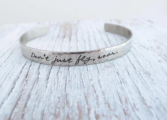 Don't just Fly, Soar Cuff