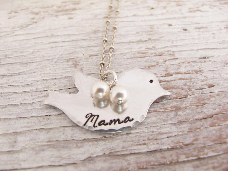 Mama Necklace, Aluminum