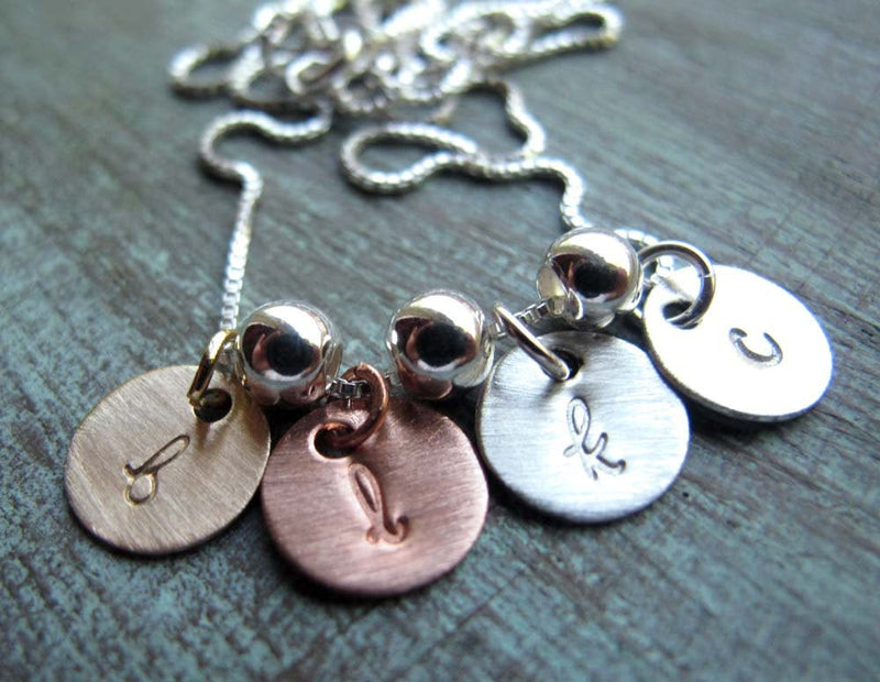 TINY Charm Initials, Mixed Metals