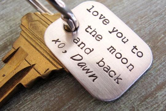 Love you to the Moon Key Chain