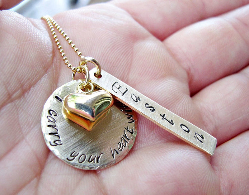 Memorial Jewelry, I Carry Your Heart With Me