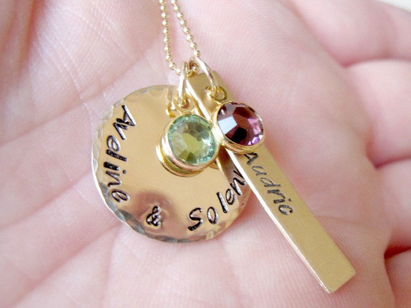 Gold Kids Name Necklace