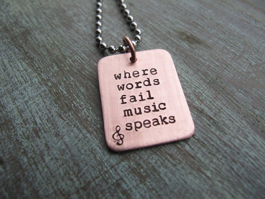 Where Words Fail Music Speaks Pendant