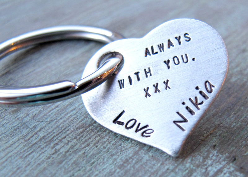 Personalized Heart Keychain