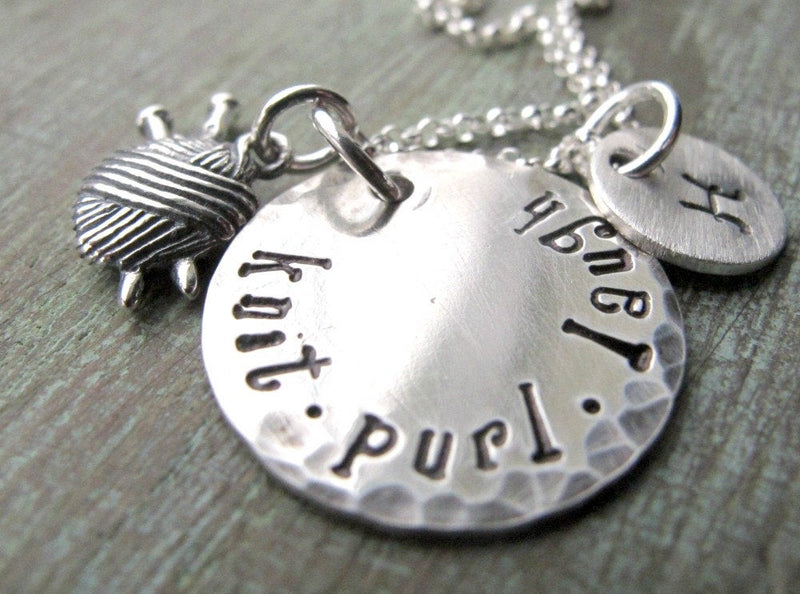 Personalized Knitting Necklace