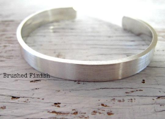 Men's Cuff Bracelet, Secret Message