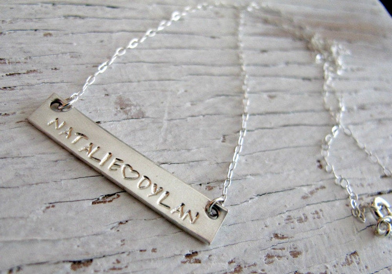 Personalized Bar Necklace