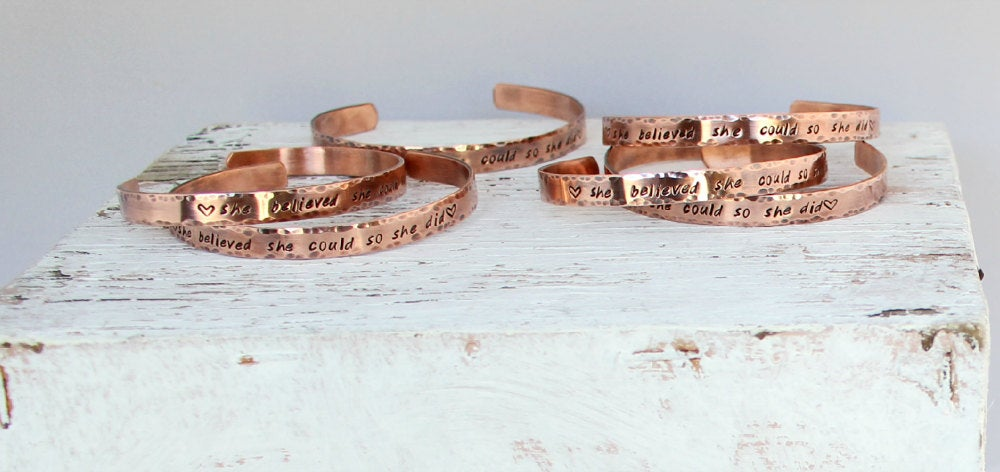 She Believed She Could So She Did, Copper Cuff