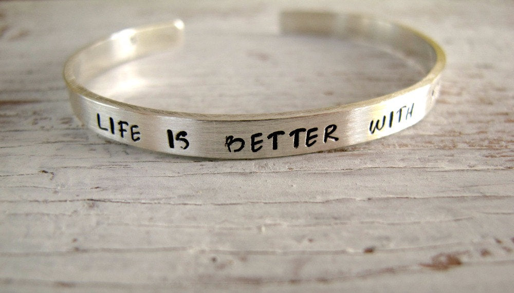 Life is Better with You Sterling Cuff