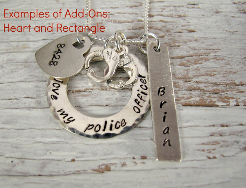 Police Wife Jewelry, Badge & Handcuffs