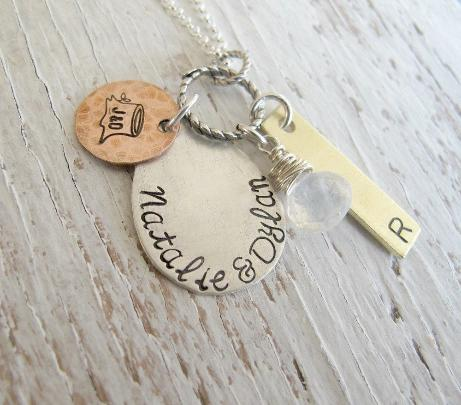 Personalized Family Cluster Necklace