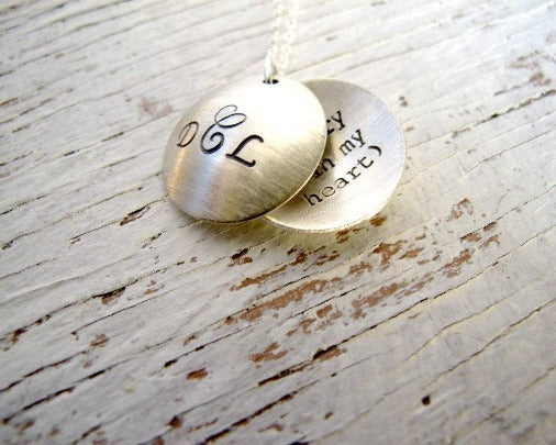 Silver Locket, Secret Message, i carry your heart with me