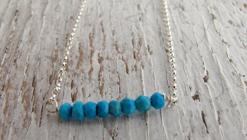 Turquoise December Birthstone Necklace
