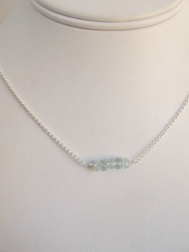 Aquamarine March Birthstone Necklace