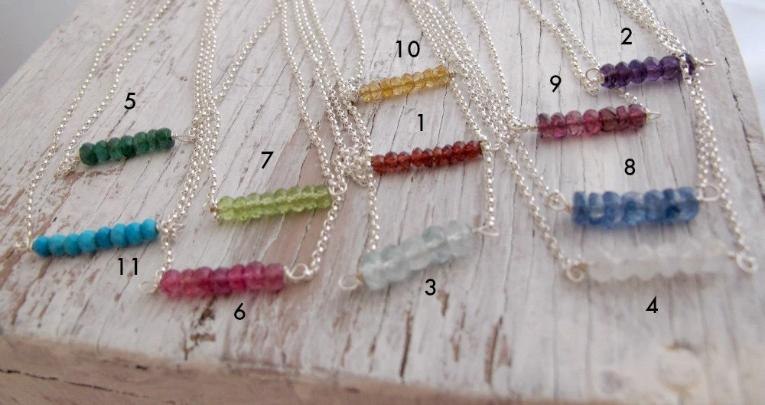 Choose Your Birthstone Necklace