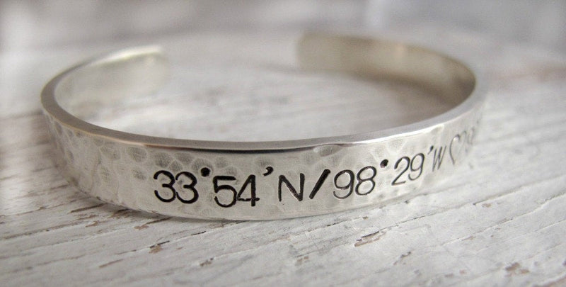 Men's Cuff Latitude Longitude