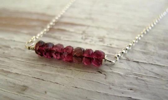 Pink Tourmaline October Birthstone Necklace