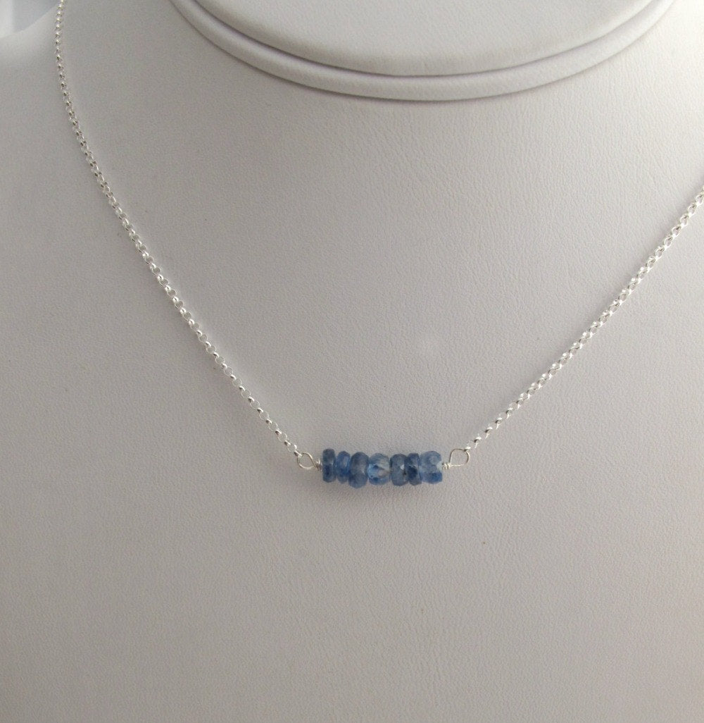 Sapphire September Birthstone Necklace
