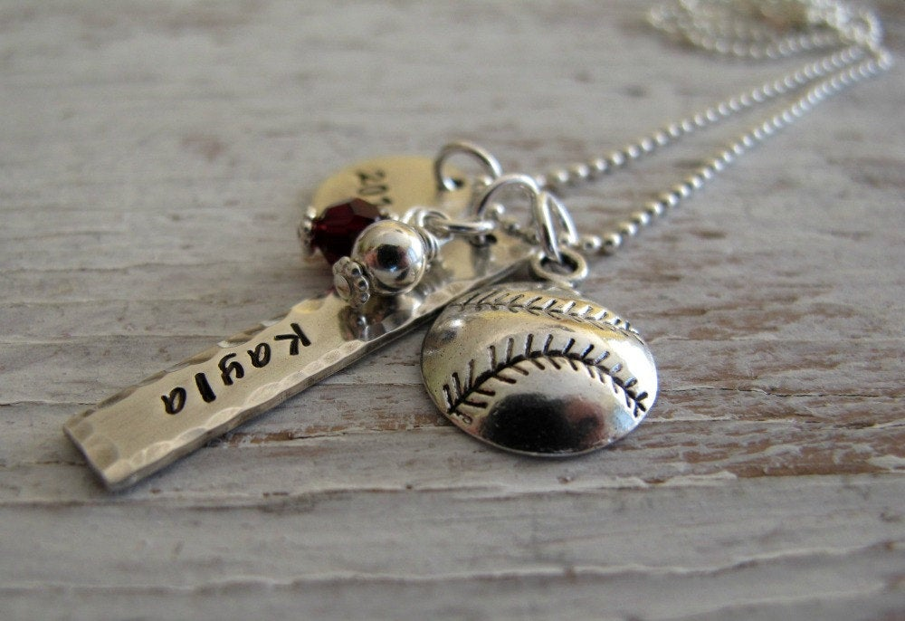 Sports Charm Necklace, Personalized
