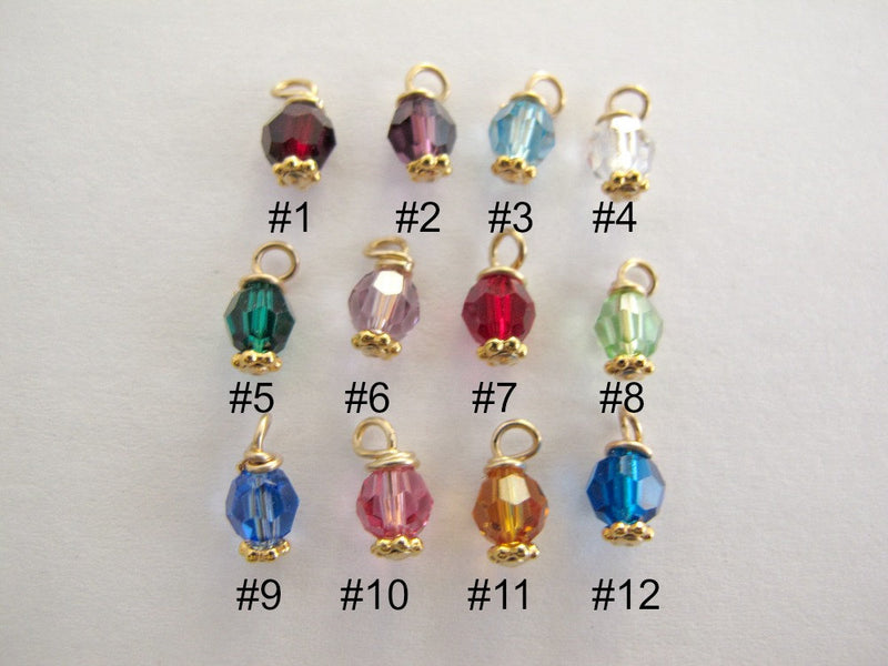 Gold Round Crystal Birthstone
