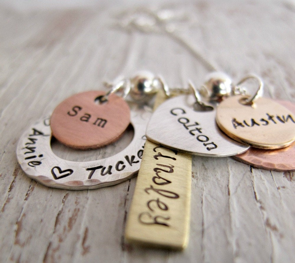 Personalized Family Mixed Metals, 6 charms