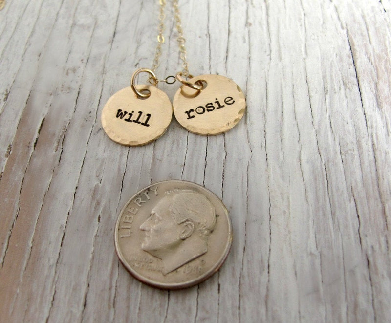Gold Kid's Names Necklace