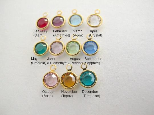 Gold Swarovski Crystal Birthstone