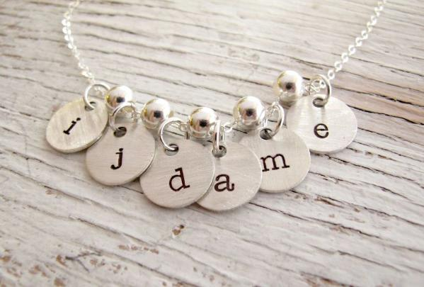 Bundle of Initials Charm Necklace