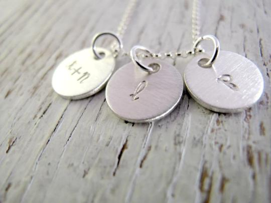 Double Sided Kid's Initials Necklace