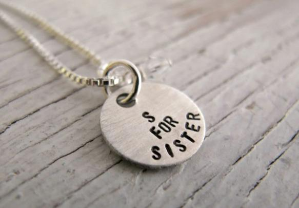 S for Sister Necklace