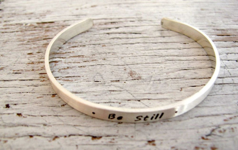 Personalized Sterling Silver Cuff