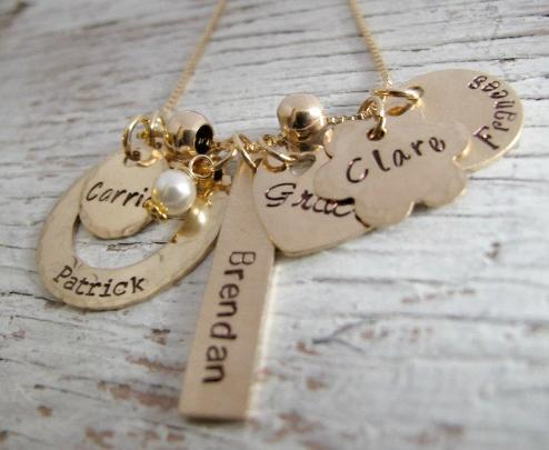 Gold Bundle of Love Charm Necklace
